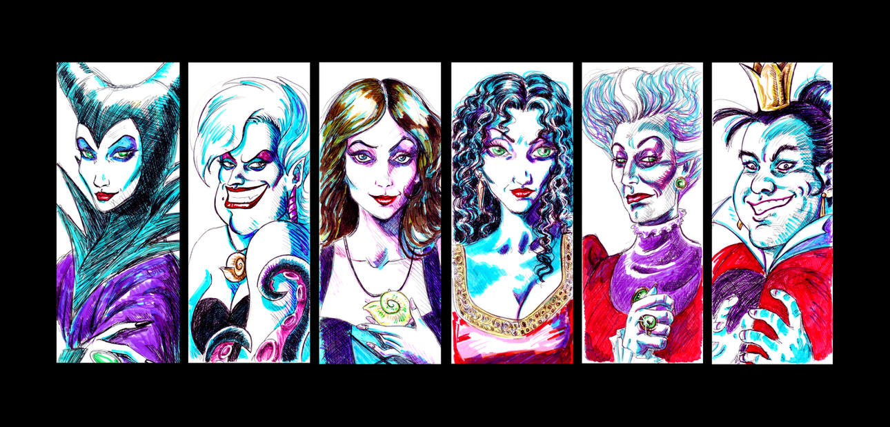 Disney Dark Ladies 1 by Orestes-Sobek