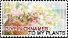 :: Stamp   I give nicknames to my plants by mleko099