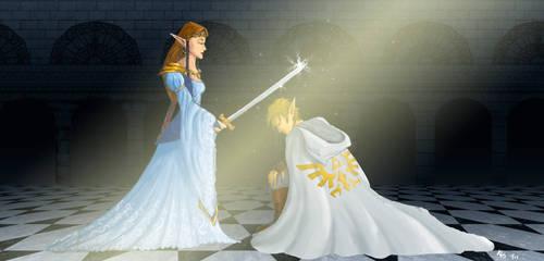 The Knight of Hyrule by darkpriestss
