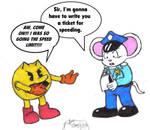 Pac-Man gets a speeding ticket