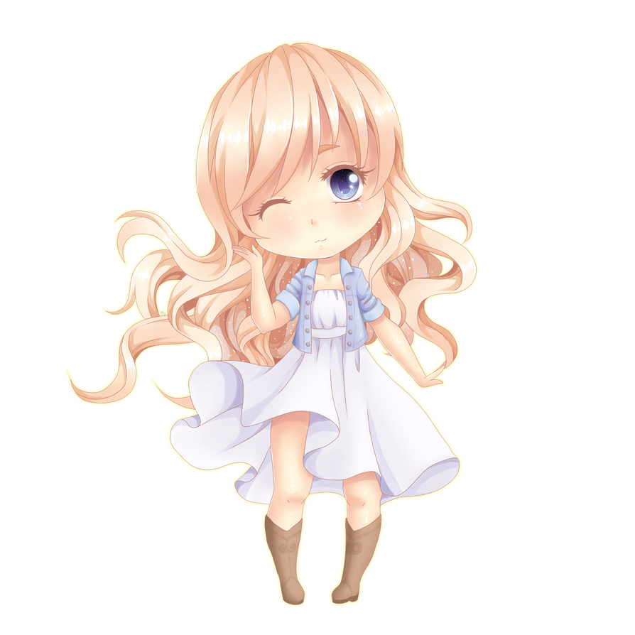 Cute Chibi Girl By Shiimosa On Deviantart