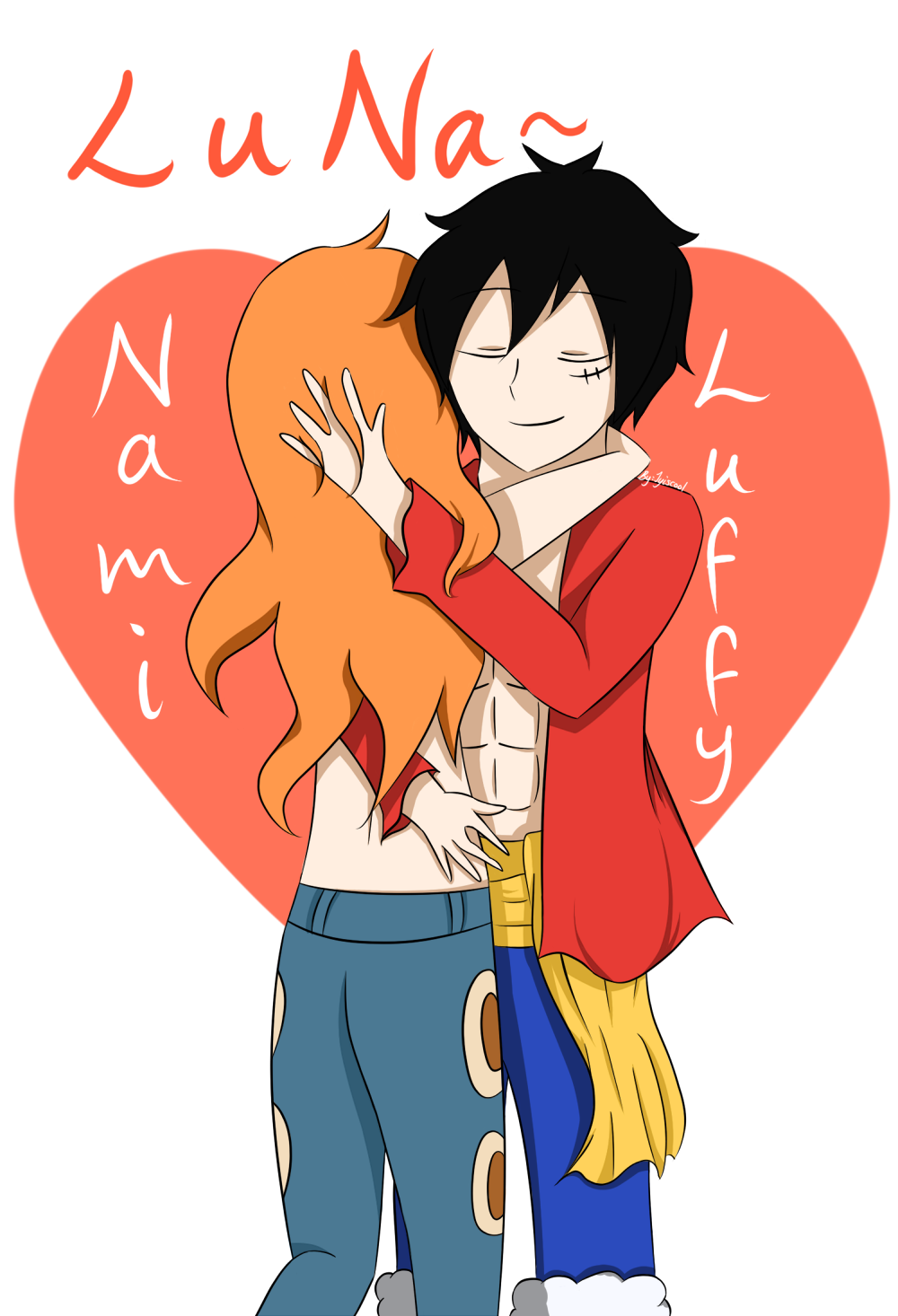 One Piece - Luffy x Nami by Jyiscool