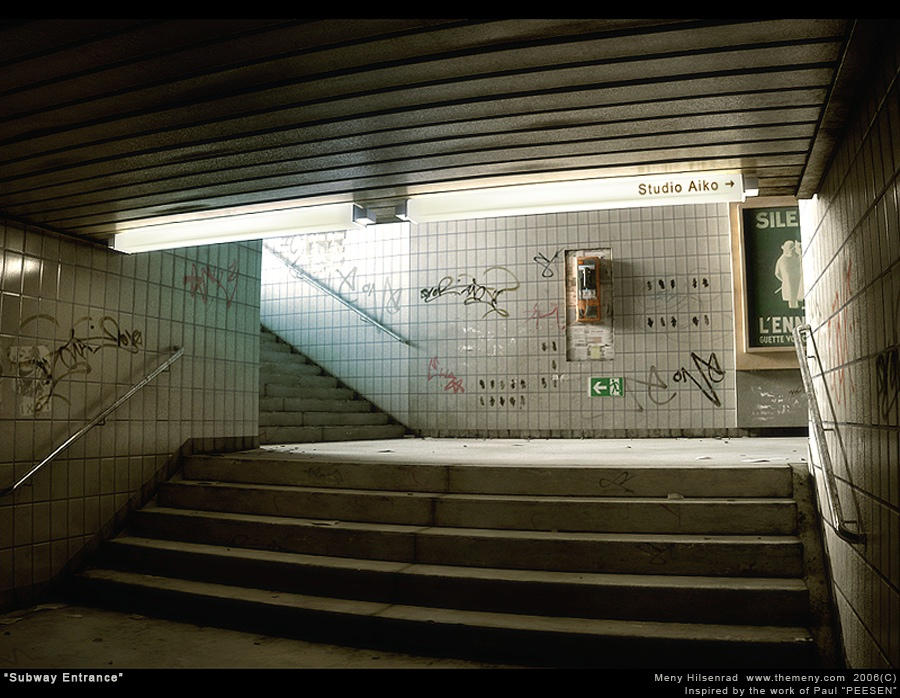 Subway Entrance by themeny