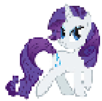Pixel Art: Rarity by FireboltIsBestPony