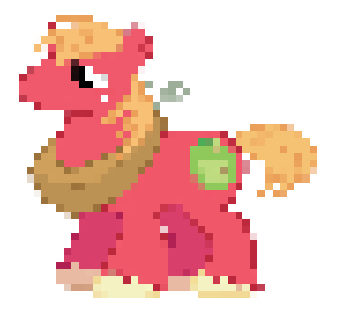 Pixel Art: Big Macintosh by FireboltIsBestPony