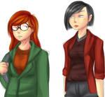 Daria and Jane sketch