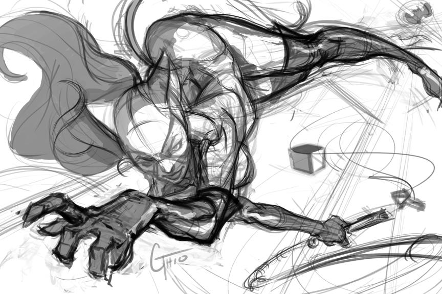 Catwoman Sketch by JimboBox