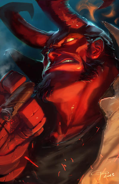 Hellboy by JimboBox