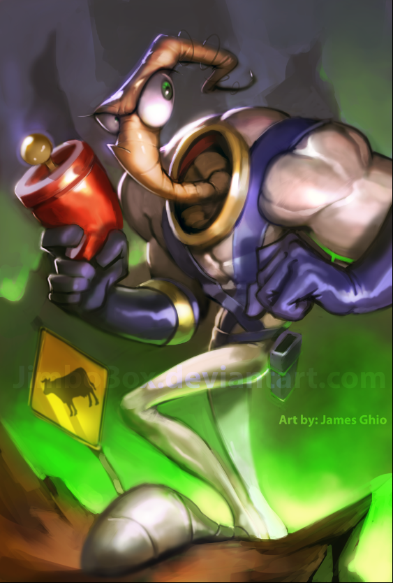 Earthworm Jim by JimboBox on DeviantArt