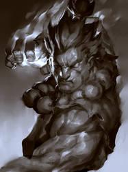 Raging Demon Sketch
