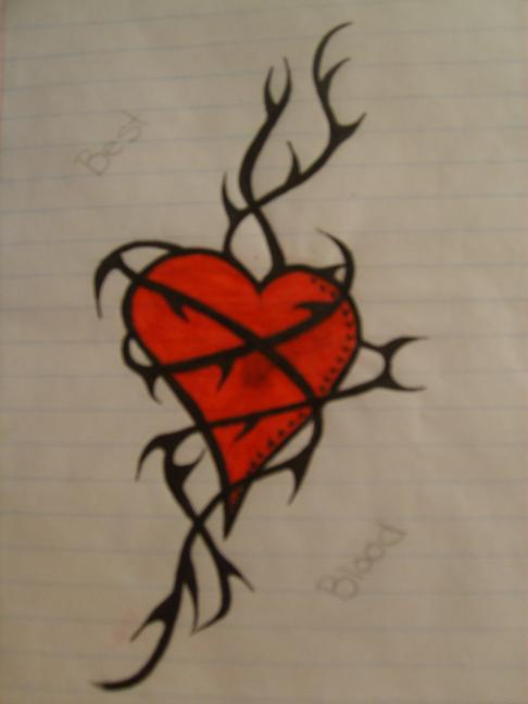heart vine tattoo design by twiztidroze on deviantart. Black Bedroom Furniture Sets. Home Design Ideas
