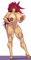 Red Monika muscular by zetarok