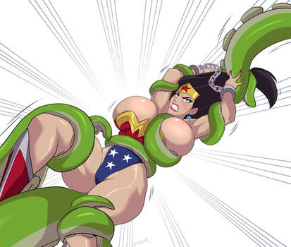 Wonder Woman tentacle peril