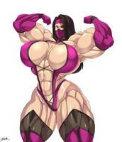 Mileena muscular by zetarok
