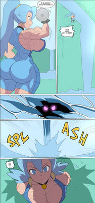 Clair muscular comic page 1