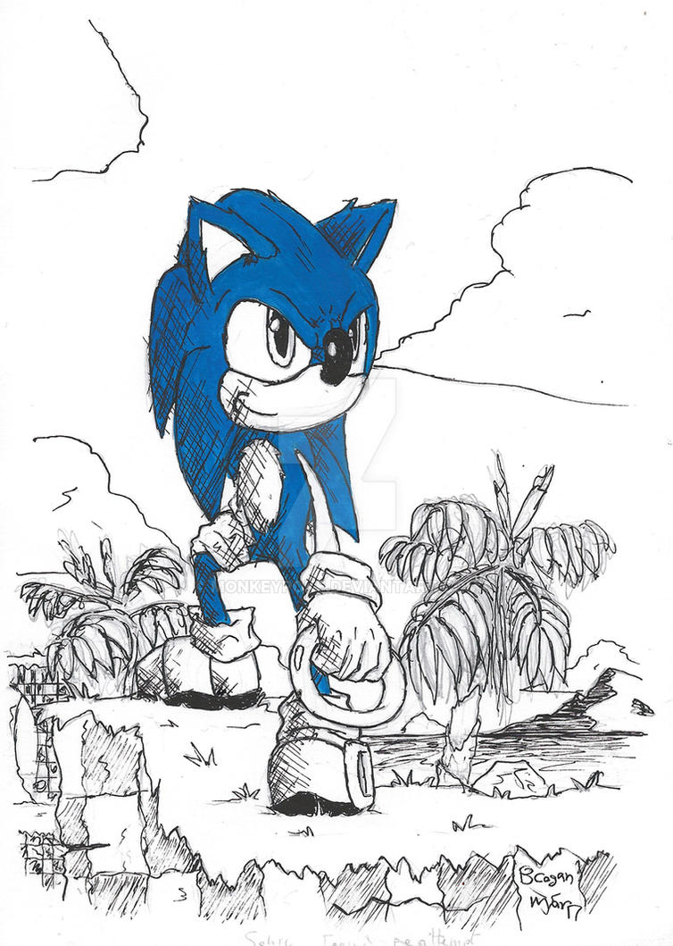 Sonic The Hedgehog by monkeypoke