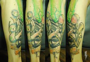 Tattoo walking by jukan6