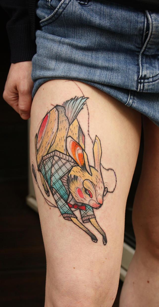 follow the ochre rabbit by jukan6