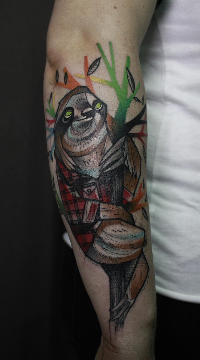 Working Class Sloth by jukan6