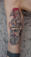 Der Alte Mann und sein Huhn