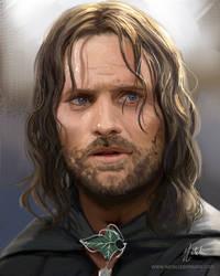 Aragorn Study by nataliebernard