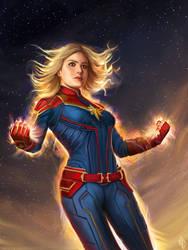Captain Marvel by nataliebernard