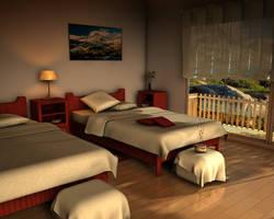 bedroom c4d by ibrahim-ksa