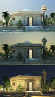 mosque by cinema 4D