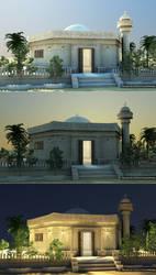 mosque by cinema 4D by ibrahim-ksa