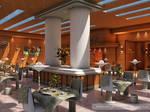 Restaurant by cinema 4D