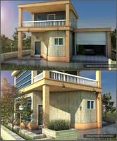 Villa by Cinema 4D by ibrahim-ksa