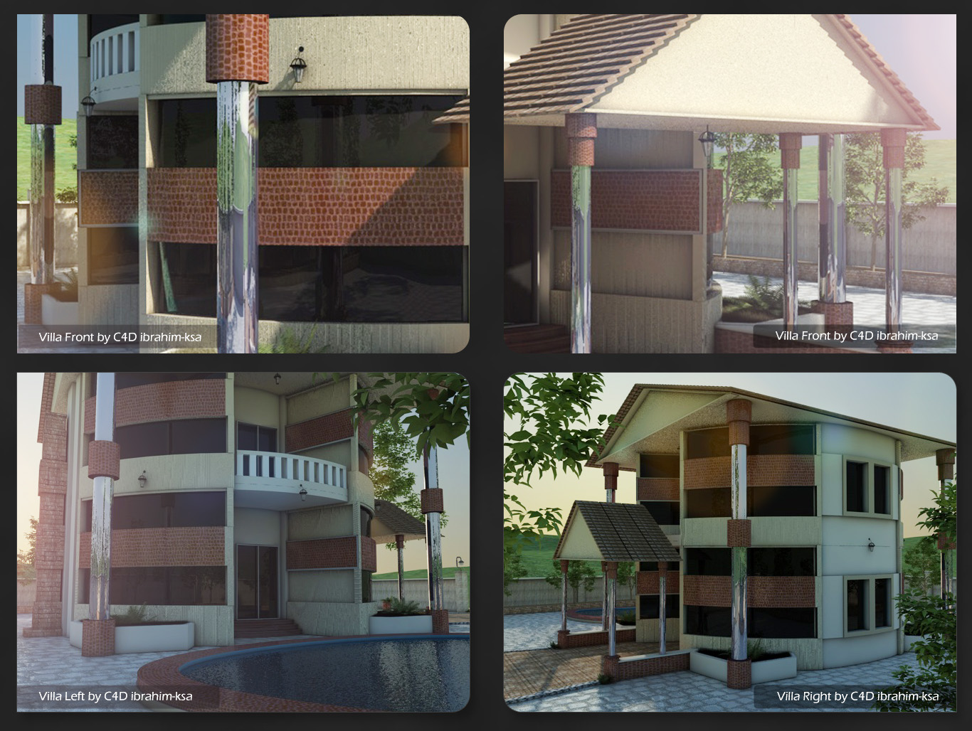 New villa design by cinema 4d by ibrahim ksa on deviantart for New villa design