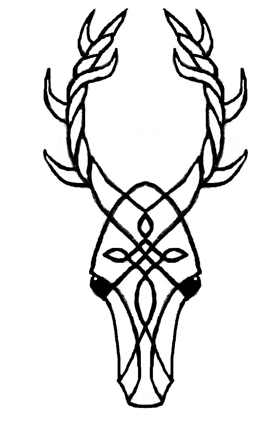 stag head - medium by Celtic Stag Head