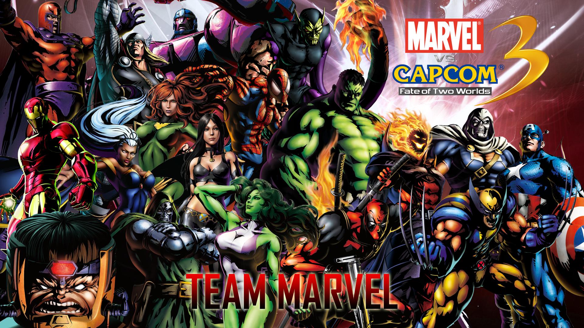Marvel vs capcom 3 team marvel by crossdominatrix5 d33p16a