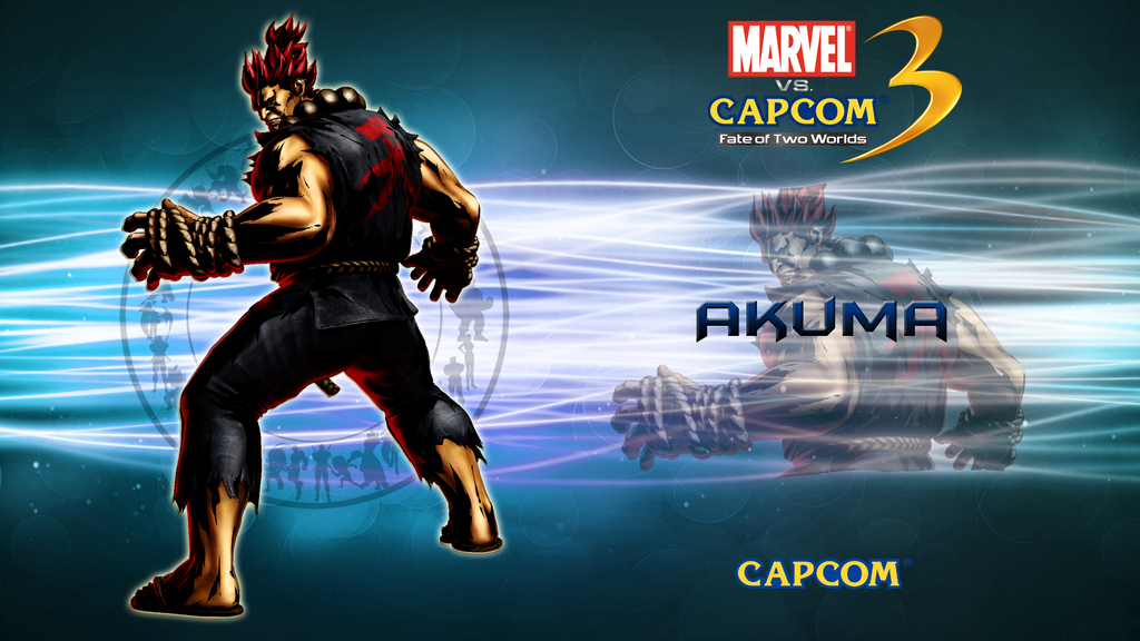 marvel vs capcom 3 wallpaper. Marvel VS Capcom 3 Akuma by
