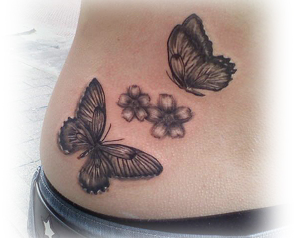 Butterfly tattoo by Lillithmorgain