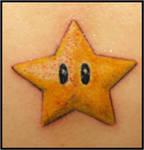 Nintendo star tattoo