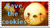 Save the cookies stamp