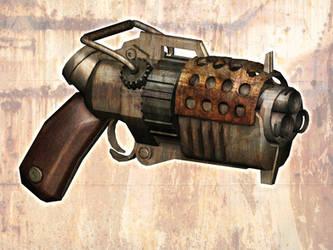steam punk gun by chrislazzer