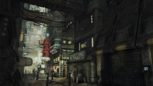 Slum Bar Street by chrislazzer