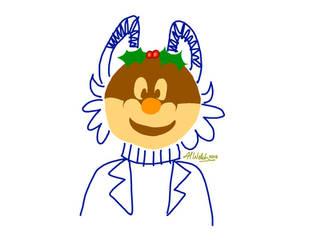 A Christmas Pudding-Head by BunnzieBungo