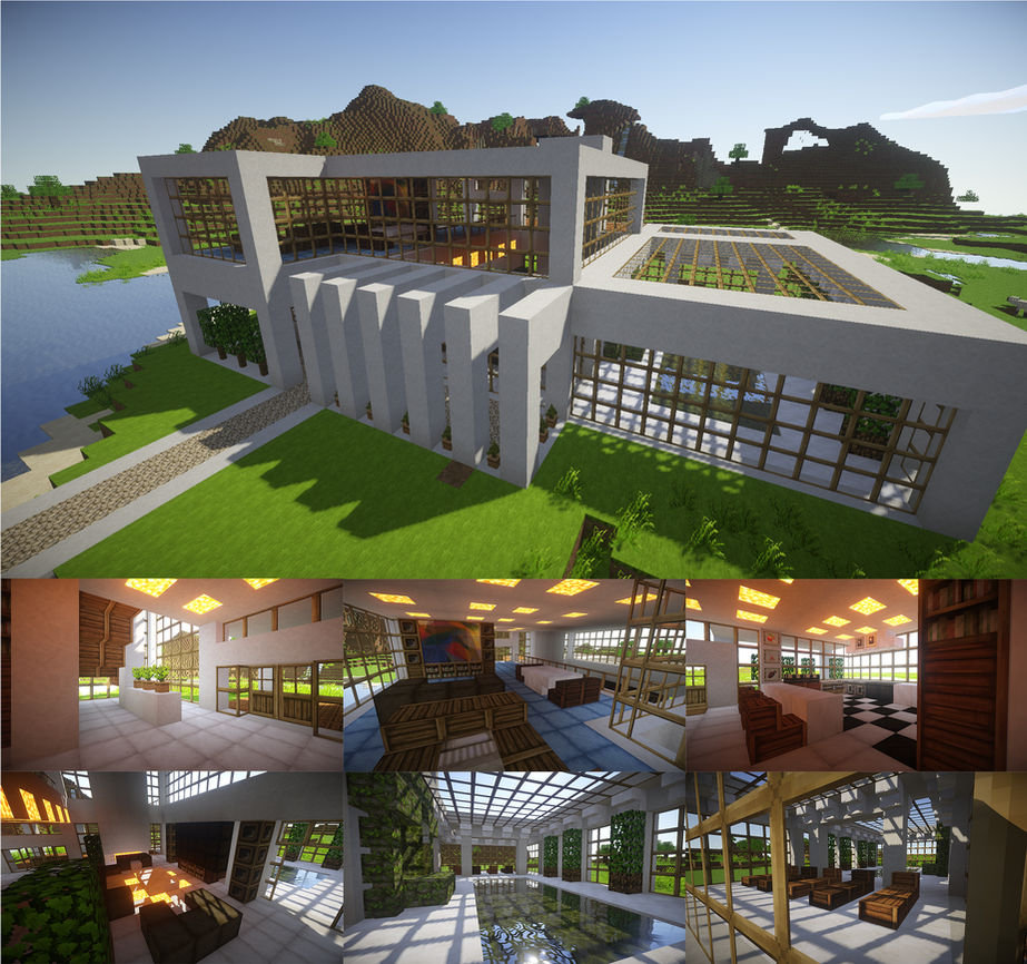 how to build a nice modern house in minecraft