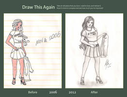 Draw this Again! - Girl holding Jacket