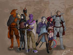 Dungeons and dragons, party group shot