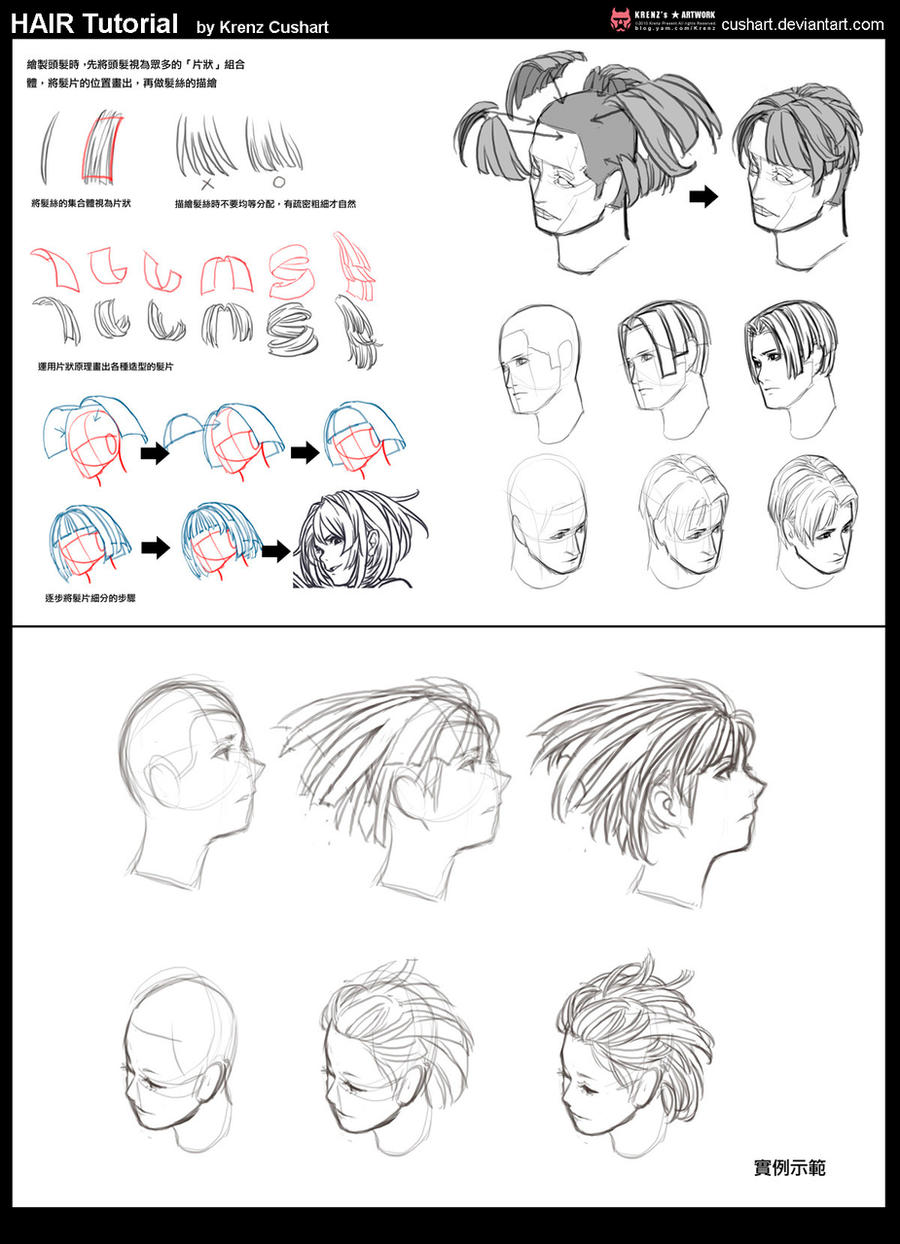 Hair tutorial by Cushart