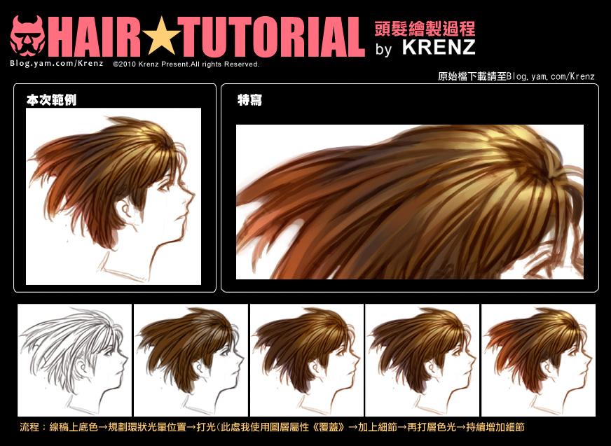 Hair tutorial 2 by Cushart
