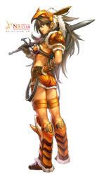 warrior-female by Cushart