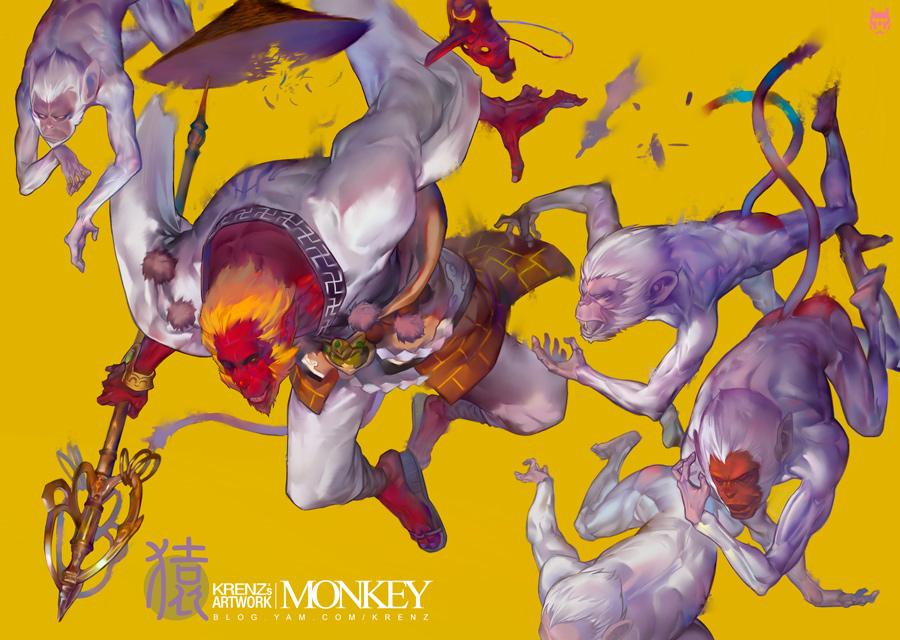Monkey by Cushart