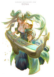 league of legends- Sona by Cushart