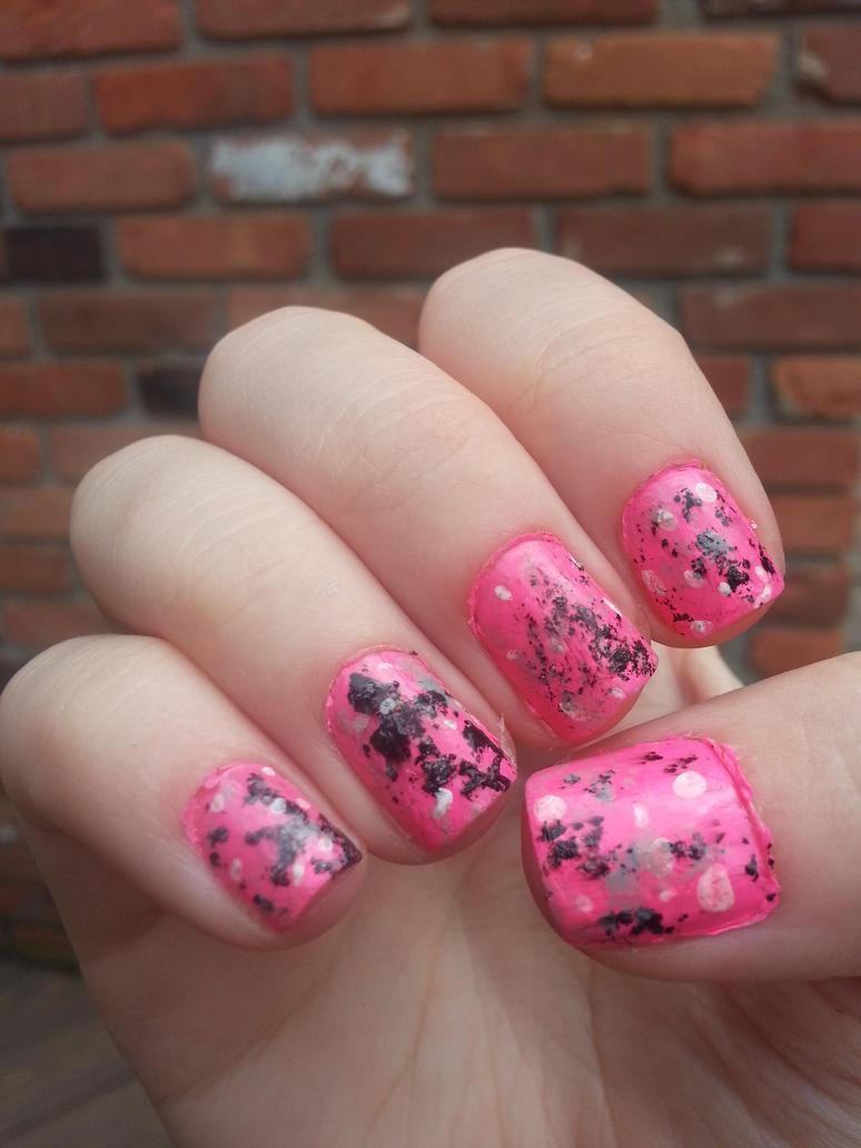 Pink Graffiti Nail Art By Rebecca Petro On Deviantart